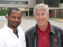 A.D. Terry Smith and Coach Pete Carroll.  Click here to see the Photo gallery from USC coach Carroll's visit