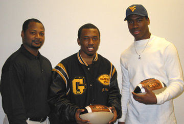 Terry Smith, Jai Wilson and Mortty Ivy on Letter of Intent Day